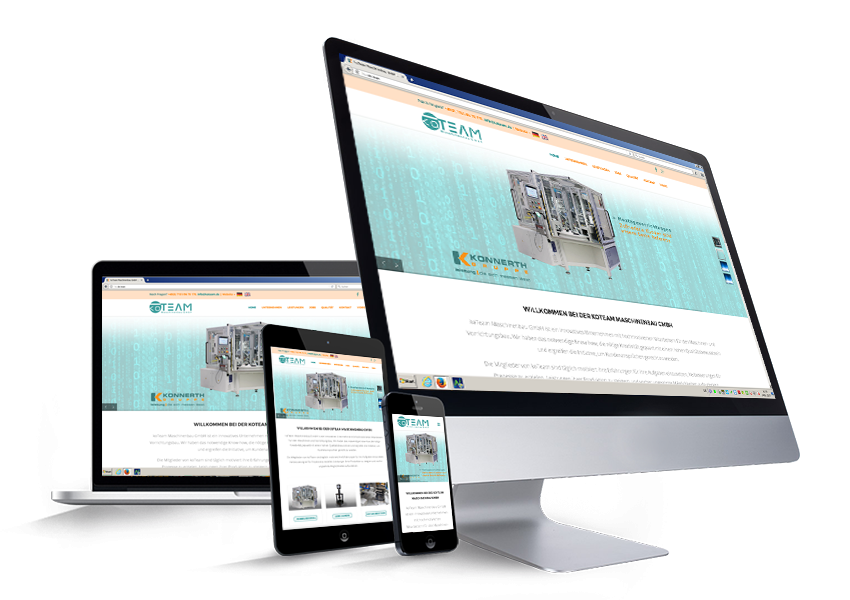 Responsive homepage, Web design